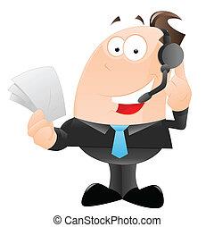Happy Office Employee - Art of Happy Office Employee Talking...