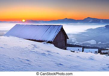 Berge, Morgen