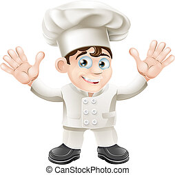 Cute chef mascot character - A cute chef mascot character in...