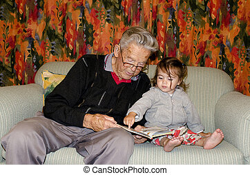 Childhood - Granddad Relationship - Great Grandad reads a...