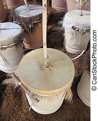Friction drum, zambomba or furro christmas instrument.