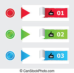 colorful stickers and buttons with special design