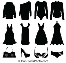 illustration of special black woman clothes and accessories
