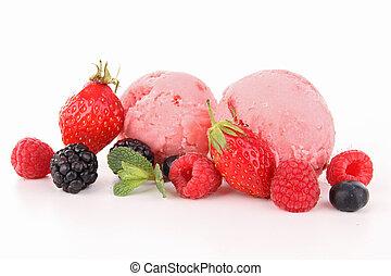 isolated ice cream