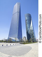 Cuatro Torres Business Area - Madrid, Spain - July 29, 2009:...