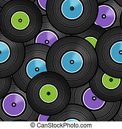 Vinyl audio discs seamless background