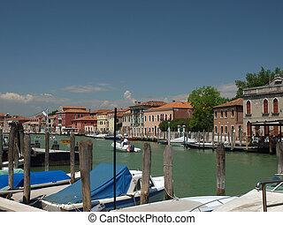 View of Canal Grande di Murano, Venice, Italy