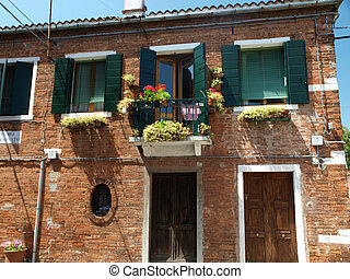 The island of Murano near Venice. Famous for making decorative glass
