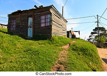 House in a township in South Africa - View of an house in a...