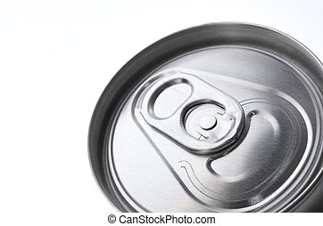 soda - fore the closure of an aluminum can of soda