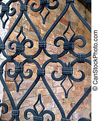 Hand made solid iron grille