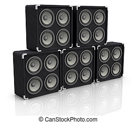 concert audio speaker - one stack of concerto audio speaker...