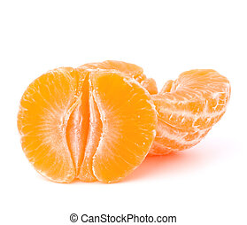 Orange mandarin or tangerine fruit isolated on white...