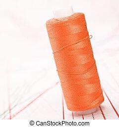 Carretel, fio, coser, acessórios