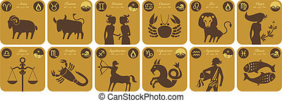 Modern Zodiac Signs - The twelve signs of the modern zodiac...