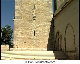 MELFI belltower pan - Norman bell tower of the Santa Maria...
