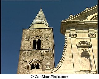MELFI cathedral with bell tower pan - The Santa Maria...