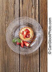 Custard tart with fruit