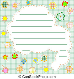 template frame design for greeting card. vector