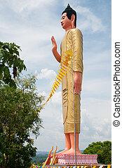 Buddha image at Phnom Yat in Pailin, Cambodia