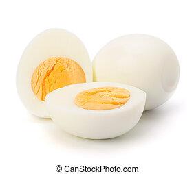 boiled egg  - Shell boiled egg isolated on white background