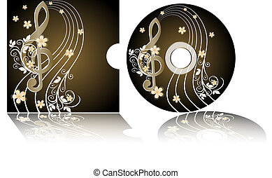 CD label with the treble clef