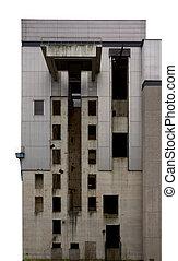 Industrial, complexo, abandonado