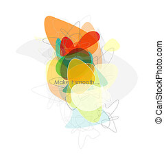 Vector abstract smooth composition
