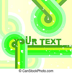 Abstract retro vinil cover background - Vector illustration...