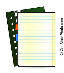 Vector notes sheet - Office object design for you project