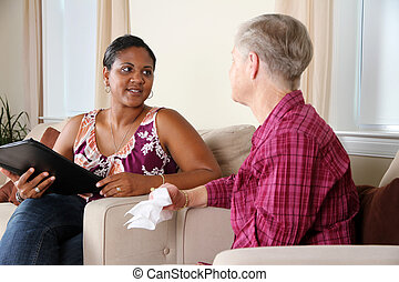 Counseling - A person going through their counseling session