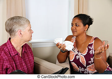 Woman in Counseling - Young Woman in Counseling Session at...