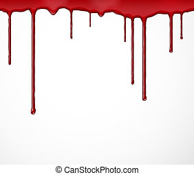 Background with blood - Background with flowing blood. Eps...