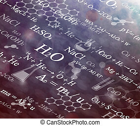 Chemical background - Background with chemical formulas. Eps...