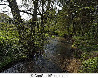 Little river, Lower Saxony, Germany - Little river at the...