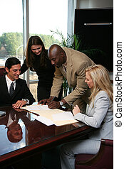 Business Team Signing Contract - Business team ready to sign...