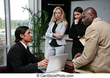 Business Team in an office working together