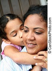 Mother and Daughter - A mixed race mother and daughter
