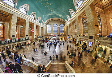 Tourists and Shoppers in Grand Central, NYC - Tourists and...