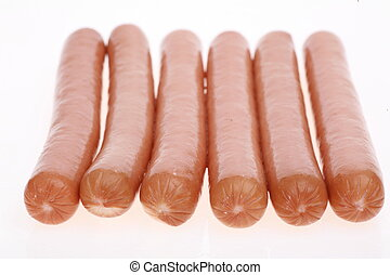 Frankfurter sausages isolated