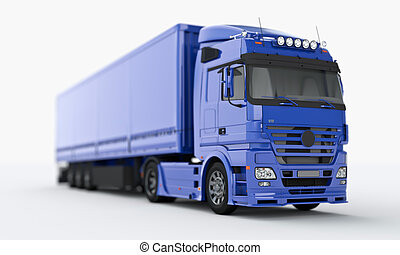 Truck on a light background, shallow depth of field