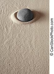zen meditation stone relaxation or concentration point to...