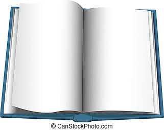 Open Book Page Turn Copyspace Background - Page turning on a...
