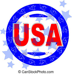 usa vector illustration. american independence day - usa...