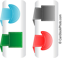 Vector set of announcement abstract label tags