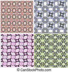 Abstract seamless pattern, vector background set