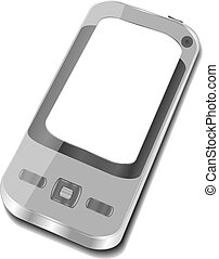 smartphone on white background. Iphone