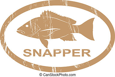 Snapper. - Snapper in grunge stamp effect.