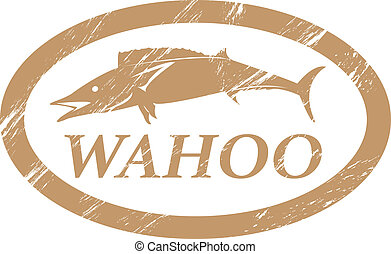 Wahoo - Wahoo in grunge stamp effect