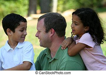 père, enfants